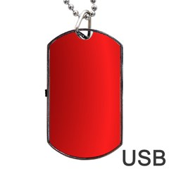 Red Gradient Fractal Backgroun Dog Tag USB Flash (One Side)