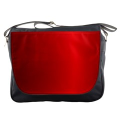 Red Gradient Fractal Backgroun Messenger Bags