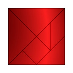 Red Gradient Fractal Backgroun Acrylic Tangram Puzzle (6  x 6 )