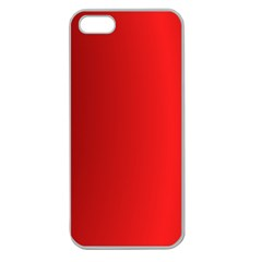 Red Gradient Fractal Backgroun Apple Seamless iPhone 5 Case (Clear)