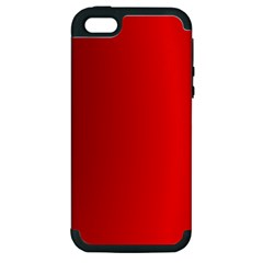 Red Gradient Fractal Backgroun Apple iPhone 5 Hardshell Case (PC+Silicone)