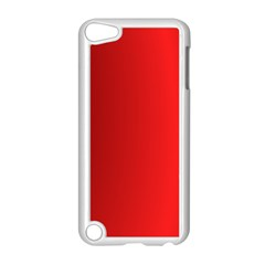 Red Gradient Fractal Backgroun Apple iPod Touch 5 Case (White)
