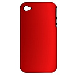Red Gradient Fractal Backgroun Apple iPhone 4/4S Hardshell Case (PC+Silicone)