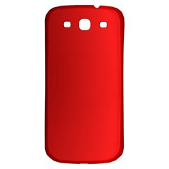 Red Gradient Fractal Backgroun Samsung Galaxy S3 S III Classic Hardshell Back Case