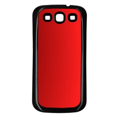 Red Gradient Fractal Backgroun Samsung Galaxy S3 Back Case (Black)