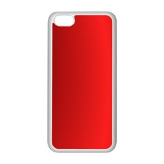 Red Gradient Fractal Backgroun Apple iPhone 5C Seamless Case (White)