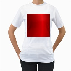 Red Gradient Fractal Backgroun Women s T Shirt (white)