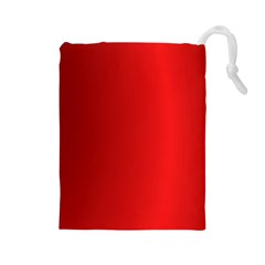 Red Gradient Fractal Backgroun Drawstring Pouches (Large)