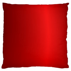 Red Gradient Fractal Backgroun Large Flano Cushion Case (One Side)