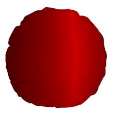 Red Gradient Fractal Backgroun Large 18  Premium Flano Round Cushions