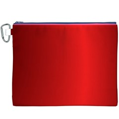 Red Gradient Fractal Backgroun Canvas Cosmetic Bag (XXXL)