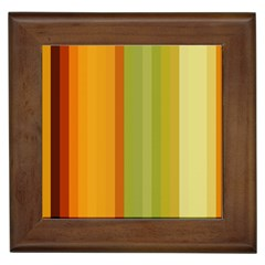 Colorful Citrus Colors Striped Background Wallpaper Framed Tiles