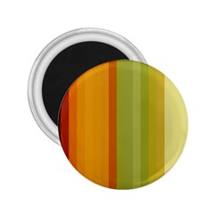 Colorful Citrus Colors Striped Background Wallpaper 2.25  Magnets