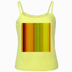 Colorful Citrus Colors Striped Background Wallpaper Yellow Spaghetti Tank