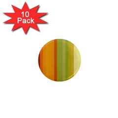Colorful Citrus Colors Striped Background Wallpaper 1  Mini Magnet (10 Pack)