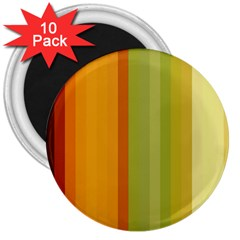 Colorful Citrus Colors Striped Background Wallpaper 3  Magnets (10 Pack)