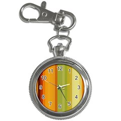 Colorful Citrus Colors Striped Background Wallpaper Key Chain Watches