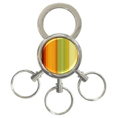 Colorful Citrus Colors Striped Background Wallpaper 3-Ring Key Chains
