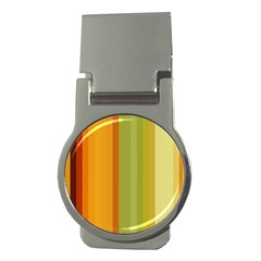 Colorful Citrus Colors Striped Background Wallpaper Money Clips (round)