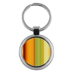 Colorful Citrus Colors Striped Background Wallpaper Key Chains (round)