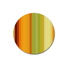 Colorful Citrus Colors Striped Background Wallpaper Magnet 3  (round)