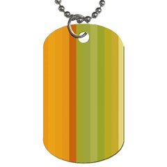 Colorful Citrus Colors Striped Background Wallpaper Dog Tag (one Side)