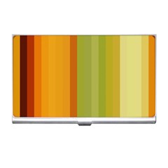 Colorful Citrus Colors Striped Background Wallpaper Business Card Holders