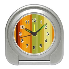 Colorful Citrus Colors Striped Background Wallpaper Travel Alarm Clocks