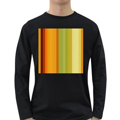 Colorful Citrus Colors Striped Background Wallpaper Long Sleeve Dark T Shirts