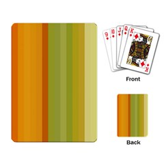 Colorful Citrus Colors Striped Background Wallpaper Playing Card