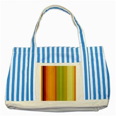 Colorful Citrus Colors Striped Background Wallpaper Striped Blue Tote Bag