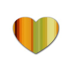 Colorful Citrus Colors Striped Background Wallpaper Rubber Coaster (heart)