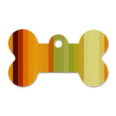 Colorful Citrus Colors Striped Background Wallpaper Dog Tag Bone (one Side)