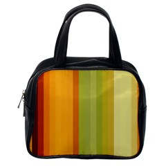 Colorful Citrus Colors Striped Background Wallpaper Classic Handbags (One Side)