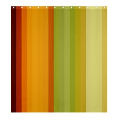 Colorful Citrus Colors Striped Background Wallpaper Shower Curtain 66  X 72  (large)