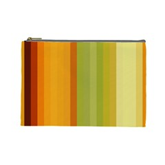 Colorful Citrus Colors Striped Background Wallpaper Cosmetic Bag (large)