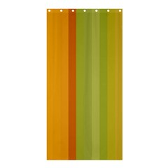 Colorful Citrus Colors Striped Background Wallpaper Shower Curtain 36  X 72  (stall)
