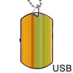 Colorful Citrus Colors Striped Background Wallpaper Dog Tag Usb Flash (one Side)