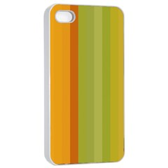 Colorful Citrus Colors Striped Background Wallpaper Apple iPhone 4/4s Seamless Case (White)