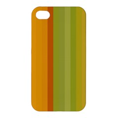 Colorful Citrus Colors Striped Background Wallpaper Apple iPhone 4/4S Hardshell Case