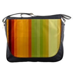 Colorful Citrus Colors Striped Background Wallpaper Messenger Bags