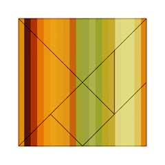 Colorful Citrus Colors Striped Background Wallpaper Acrylic Tangram Puzzle (6  x 6 )