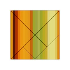 Colorful Citrus Colors Striped Background Wallpaper Acrylic Tangram Puzzle (4  x 4 )
