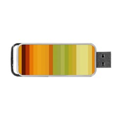 Colorful Citrus Colors Striped Background Wallpaper Portable USB Flash (One Side)