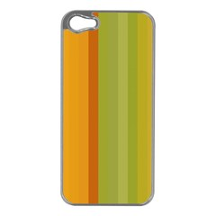 Colorful Citrus Colors Striped Background Wallpaper Apple iPhone 5 Case (Silver)