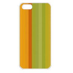 Colorful Citrus Colors Striped Background Wallpaper Apple iPhone 5 Seamless Case (White)