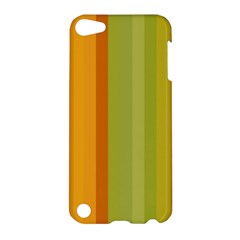 Colorful Citrus Colors Striped Background Wallpaper Apple iPod Touch 5 Hardshell Case