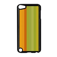 Colorful Citrus Colors Striped Background Wallpaper Apple iPod Touch 5 Case (Black)