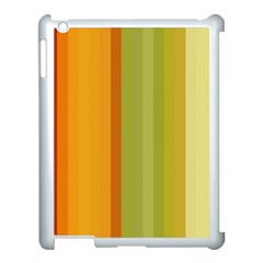 Colorful Citrus Colors Striped Background Wallpaper Apple iPad 3/4 Case (White)