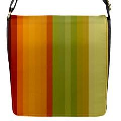 Colorful Citrus Colors Striped Background Wallpaper Flap Messenger Bag (S)